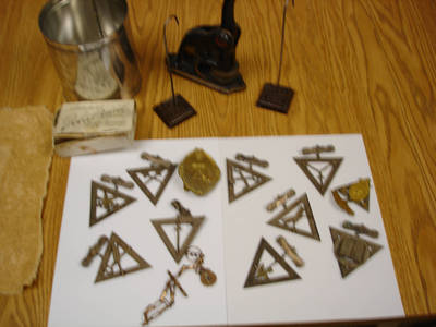 Thompson Cooper Lodge of Knights of Pythias Pins and Seal