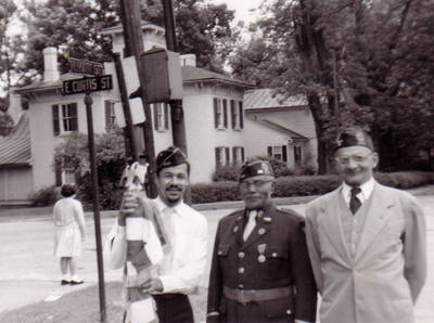 American Legion Color Guard Mt. Vernon Black Veterans ca. 1949