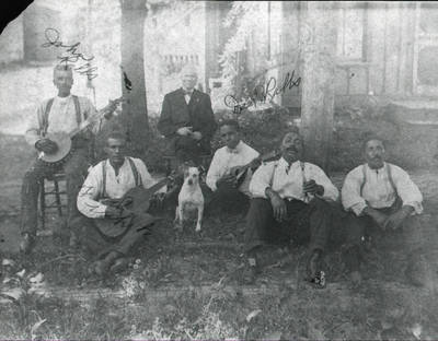 John Ralls, Gus Ralls, and Fred White band ca. 1900