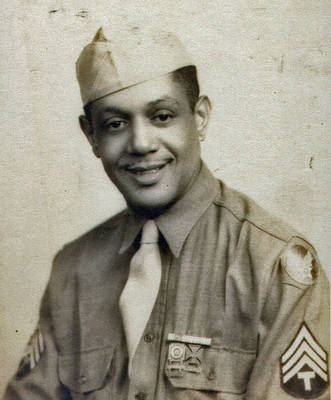 Army Sergeant Lester Martin WWII Era
