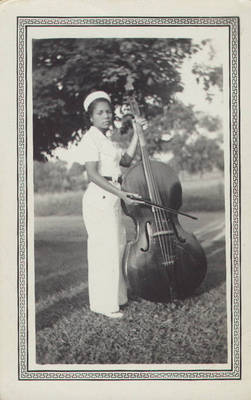 Betty Jane Ralls with Bass ca. 1940