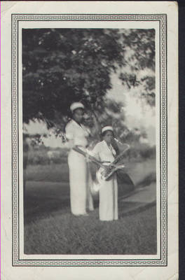 Betty Jane Ralls with Saxophone ca. 1940