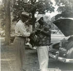 Bud Anderson and Dad Anderson at Farmer's Picnic