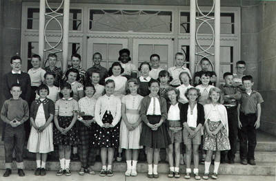 Joseph Booker and Class Photo ca. 1950s