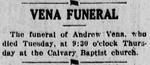 The Democratic Banner: Vena Funeral at Calvary Baptist Church by The Democratic Banner