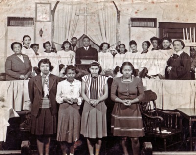 Mt. Calvary Baptist Church Full Choir ca. 1947
