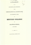 Catalogue of the Officers and Students of the Theological Seminary of the Diocese of Ohio, and Kenyon College and Grammar School 1833-1834