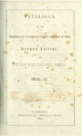 Catalogue of the Theological Seminary of the Diocese of Ohio, Kenyon College, and Kenyon Preparatory School. 1850-1851