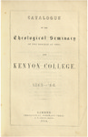 Catalogue of the Theological Seminary of the Diocese of Ohio and Kenyon College. 1853-1854