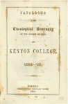 Catalogue of the Theological Seminary of the Diocese of Ohio and Kenyon College. 1854-1855