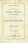 Catalogue of the Theological Seminary of the Diocese of Ohio and Kenyon College. 1855-1856