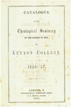 Catalogue of the Theological Seminary of the Diocese of Ohio and Kenyon College. 1856-1857