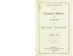 Catalogue of the Theological Seminary of the Diocese of Ohio and Kenyon College. 1857-1858