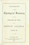Catalogue of the Theological Seminary of the Diocese of Ohio and Kenyon College. 1858-1859