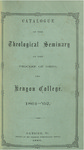 Catalogue of the Theological Seminary of the Diocese of Ohio and Kenyon College. 1861-1862