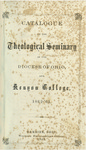 Catalogue of the Theological Seminary of the Diocese of Ohio and of Kenyon College. 1862-1863