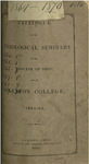 Catalogue of the Theological Seminary of the Diocese of Ohio and of Kenyon College. 1864-1865