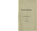 Catalogue of Kenyon College, and of the Theological Seminary, of the Diocese of Ohio 1870-1871