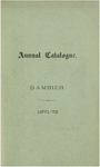 Catalogue of Kenyon College, and of the Theological Seminary, of the Diocese of Ohio 1871-1872