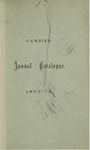 Catalogue of Kenyon College, and of the Theological Seminary of the Diocese of Ohio 1873-1874