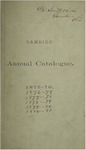Catalogue of Kenyon College, and of the Theological Seminary of the Diocese of Ohio 1875-1876