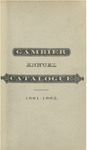 Gambier Catalogue 1881-1882