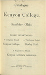 Catalogue of Kenyon College, Gambier, Ohio. 1891-1892
