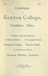 Catalogue of Kenyon College, Gambier, Ohio. 1894-1895