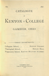 Catalogue of Kenyon College Gambier, Ohio 1895-1896