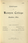 Catalogue of Kenyon College Gambier, Ohio 1896-1897