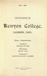 Catalogue of Kenyon College, Gambier, Ohio. 1897-1898