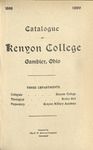 Catalogue of Kenyon College Gambier, Ohio 1898-1899