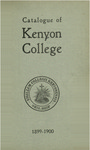 Catalogue of Kenyon College 1899-1900