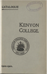 Catalogue of Kenyon College Gambier, Ohio. 1900-1901