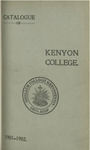 Catalogue of Kenyon College Gambier, Ohio. 1901-1902