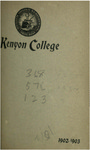 Catalogue of Kenyon College Gambier, Ohio 1902-1903