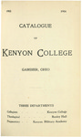 Catalogue of Kenyon College Gambier, Ohio 1903-1904