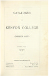 Catalogue of Kenyon College Gambier, Ohio 1905-1906