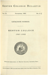 Kenyon College Bulletin V. 2 No. 1 - Catalogue Number Kenyon College 1907-1908