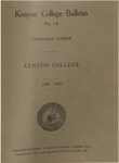 Kenyon College Bulletin No. 14 - Catalogue Number Kenyon College 1909-1910