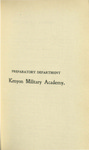 Preparatory Department Kenyon Military Academy Course Catalog 1899-1900