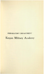 Preparatory Department Kenyon Military Academy Course Catalog 1902-1903