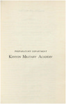 Preparatory Department Kenyon Military Academy Course Catalog 1904-1905
