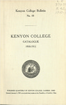 Kenyon College Bulletin No. 18 - Kenyon College Catalogue 1910-1911