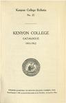 Kenyon College Bulletin No. 23 - Kenyon College Catalogue 1911-1912