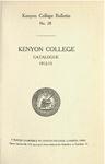 Kenyon College Bulletin No. 28 - Kenyon College Catalogue 1912-1913