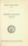 Kenyon College Bulletin No. 33 - Kenyon College Catalogue 1913-1914