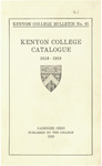 Kenyon College Bulletin No. 61 - Kenyon College Catalogue 1918-1919