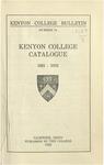 Kenyon College Bulletin No. 74 - Kenyon College Catalogue 1921-1922