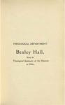 Theological Department Bexley Hall Course Catalogue 1900-1901